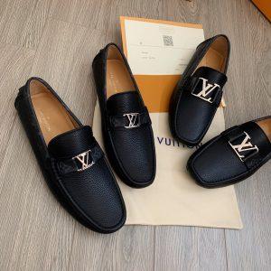 Giày lười nam da bò hàng hiệu Louis Vuitton