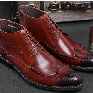 Giày tây nam mẫu cao cổ da bò